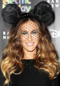 The Girl: Sarah Jessica Parker The Look: Oh-so-cute over-sized mouse ears. This look shouldn't work - and probably wouldn't on anyone other than SJP - but we love it. Mickey Mouse Ears, Disney Ears, L'wren Scott, Red Carpet Hair, Sarah Jessica Parker, Celebs, Celebrities, Disney Style, Trendy Hairstyles