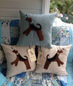 Needle Felted Cushions. Sandra Pounder Designs.