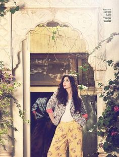 Mahira Khan. Pakistani model in a Pakistani fashion shoot