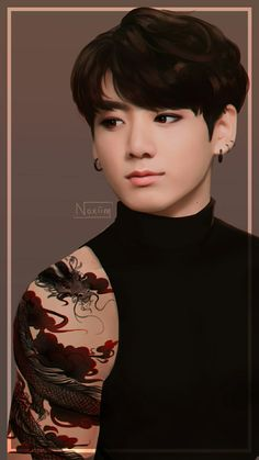 Jungkook /// BTS /// beautiful!!! Credits to owner||artist (♡●♡) xx