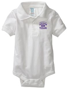 Tarleton State University Texans Baby Platinum Sport Shirt Creeper, Anthony has to support his Tia!