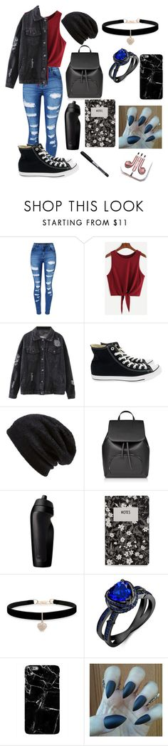 """"""""""" by aesthetic-fashion on Polyvore featuring WithChic, Converse, Barefoot Dreams, NIKE, Design Letters, Betsey Johnson, Harper & Blake and PhunkeeTree"""