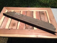 Patio table from old deck boards