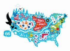 USA Map Print Travel Art Map Artwork Modern Kid Art - Cute us map