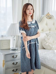 Nighties, Nightgowns, Sleepwear Women, Pajamas Women, Modele Hijab, Pajama Outfits, Night Dress For Women, Indian Gowns Dresses, Japanese Outfits