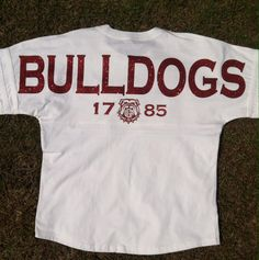 UGA - Georgia BULLDOGS - Custom Team Spirit Oversize Embellished Pullover - Adult and Youth Jersey's ** featuring RC585 Designs by RAISINGCAIN585 on Etsy