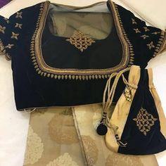 Sari and gown Fancy Blouse Designs, Blouse Neck Designs, Blouse Styles, Stylish Blouse Design, Saree Blouse Patterns, Dress Patterns, Blouse Models, Work Blouse, Indian Designer Wear