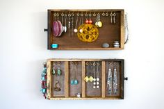 Your place to buy and sell all things handmade Vintage Drawers, Old Drawers, Jewellery Display, Jewelry Box, Hanger, Clever, Cheese, Frame, Fun