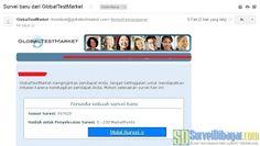 Undangan paid survey dari GlobalTestMarket dengan hadiah marketpoint lebih banyak | SurveiDibayar.com