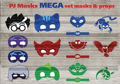 Instand DL - PJ Masks Printable masks mega peck-  Printable (NOT editable)
