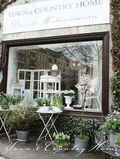 French country window display