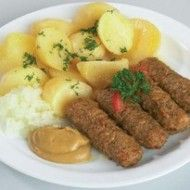 Fotografie receptu: Jednoduché čevabčiči Mashed Potatoes, Sausage, Food And Drink, Cooking, Ethnic Recipes, Anna, Google, Koken, Baking Center