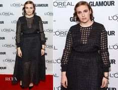 Lena Dunham In Theory by Olivier Theyskens – Glamour Magazine Women Of The Year 2013