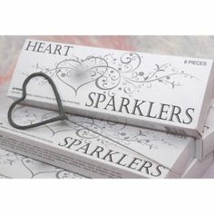Heart Shaped Wedding Sparklers - 72 Wedding Sparklers Favors, Wedding Cake Toppers, Bridal Hair Accessories, Wedding Supplies  Wedding Shop