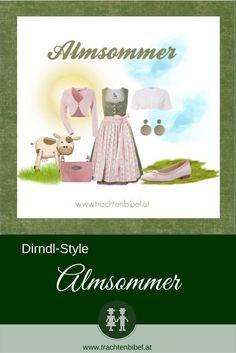 Sommerlich und mädchenhaft in Grün und Rosa ist der Style Almsommer zum Nachshoppen. Ein pflegeleichtes Dirndl mit teilweise überraschenden Accessoires!