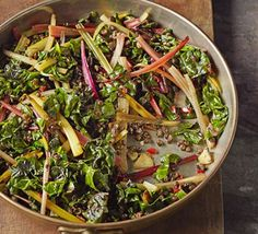 Quick braised chard & lentils