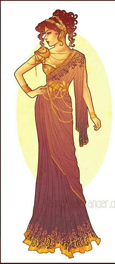 Art Nouveau Costume Designs VII: Megara by Hannah Alexander