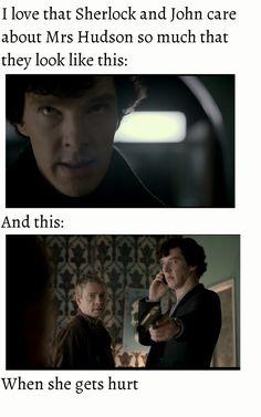 Sherlock, John and Mrs Hudson