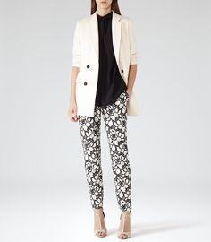 Womens Black Sleeveless Pocket Shirt - Reiss Paige