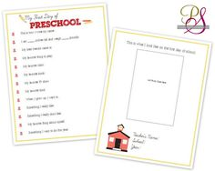 First day of school interviews. includes all the Free downloads for each grade.  LOVE this idea!!!