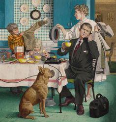The best of vintage/retro art (Since Art And Illustration, Vintage Illustration Art, Norman Rockwell, Caricatures, Vintage Posters, Vintage Art, Arte Pop, Pulp Art, Retro Art