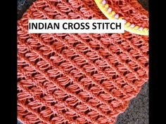 Indian Cross Stitch for the Knitting Loom - YouTube