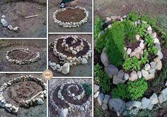 Easy Herb Spiral Garden Design Ideas for Small Yard Inspiration Herb Spiral, Spiral Garden, Garden Landscape Design, Small Garden Design, Permaculture, Amazing Gardens, Beautiful Gardens, Benefits Of Gardening, Types Of Herbs