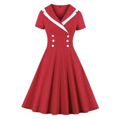 Short Sleeve Dresses, Dresses With Sleeves, Vestidos Vintage, Retro, Spandex, Fashion, Whimsical Fashion, High Waist, Style
