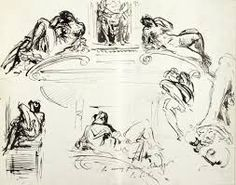 From the Harvard Art Museums' collections Medici Chapel, after Michelangelo; Harvard Art Museum, John Singer Sargent, Sketch Pad, Michelangelo, Egyptian, Sketches, Drawings, Artist, Collection