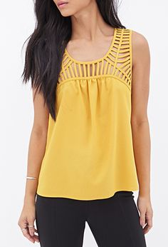 Laddered Cutout Top   Forever 21 - 2000122653