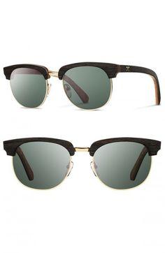 80b4299e4f Shwood Men s Eugene 54mm Polarized Wood Sunglasses