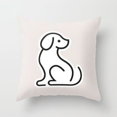 Typography, Snoopy, Graphic Design, Throw Pillows, Abstract, Grey, Creative, Illustration, Dogs