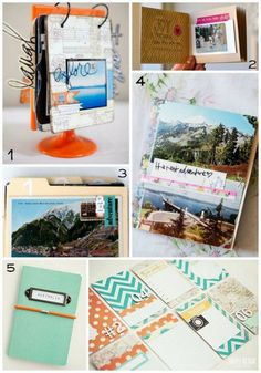 5 unique and fun DIY travel journals & | http://craftsandcreationsideas.blogspot.com
