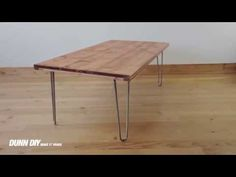 ▶ How To Make a DIY Hairpin Coffee Table - YouTube (DO IT!!!)