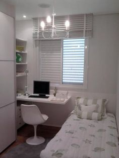 Attractive Quarto Pequeno 8. Teenage Girl BedroomsSmall BedroomsGirls BedroomBedroom  IdeasSingle ...