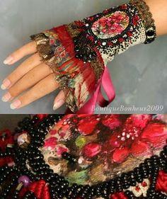 Krista R - romantic floral cuff