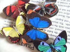 Wood Butterfly brooch wooden butterfly choose by NewellsJewels, £3.50