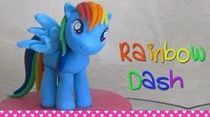 How to make Rainbow Dash, My Little Pony cake topper figurine out of fondant tutorial