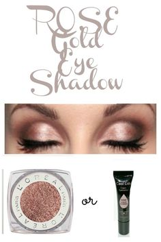 Rose Gold Eyeshadow- The 2 colors that look HOT on any woman!