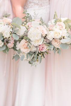 Pink Rose Bouquet, Rose Wedding Bouquet, Bridal Flowers, Bridesmaid Bouquet, Floral Wedding, Blush Roses, Bridal Bouquet White, Garden Roses Wedding, Light Pink Bouquet