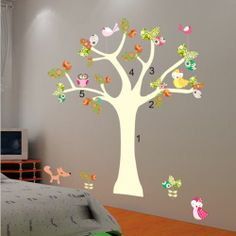 {My Chic Deals} Owl Tree Decor Vinyl Decal Removable Nursery Wall Stickers for Kids that offer you a fun and stylish way to decorate your child's room or play area. It's only $11.95. See more details at  #Wallstickersforkids #TickledMummyClub