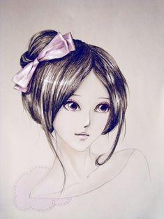 Güzel Kız Çizimleri Kolay