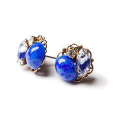Lapis Clusters Earrings Vintage Inspired