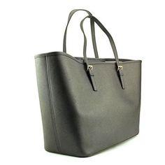 Michael Michael Kors Saffiano Leather Purse Handbag Shoulder Tote Black  #MichaelKors #TotesShoppers