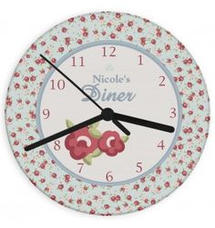 Vintage Floral Glass Clock | Clocks | Exclusively Personal