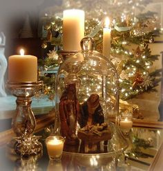 I collect nativity scenes! They're my favorite Christmas decoration!