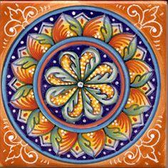 Italian Ceramic Tiles Deruta Geometrico 61A