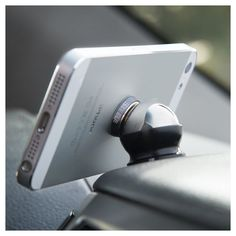 Magnetic dashboard iPhone mount