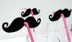 Photo Booth Props (8) EIGHT Mustache and Pink Straw Photo Props. $22,00, via Etsy.