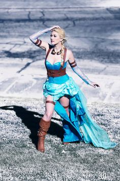 Steampunk Elsa from Frozen by cosplayer Lindsay Elyse © JwaiDesign, Jonathan Wai 2014